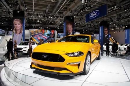 El nuevo Ford Mustang 2018 europeo desde su stand en Frankfurt 2017