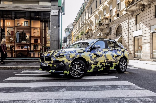 BMW X2 en la Semana de la Moda de Milán