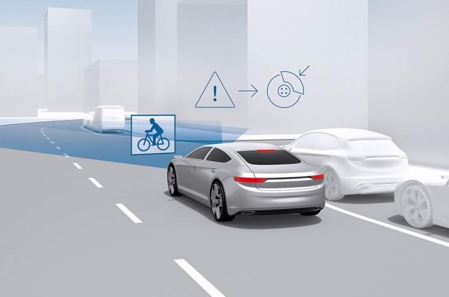 Bosch - sistema de frenada de emergencia con detección de ciclistas