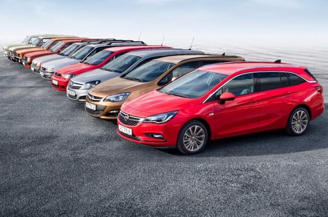 Todas las generaciones del Opel Astra
