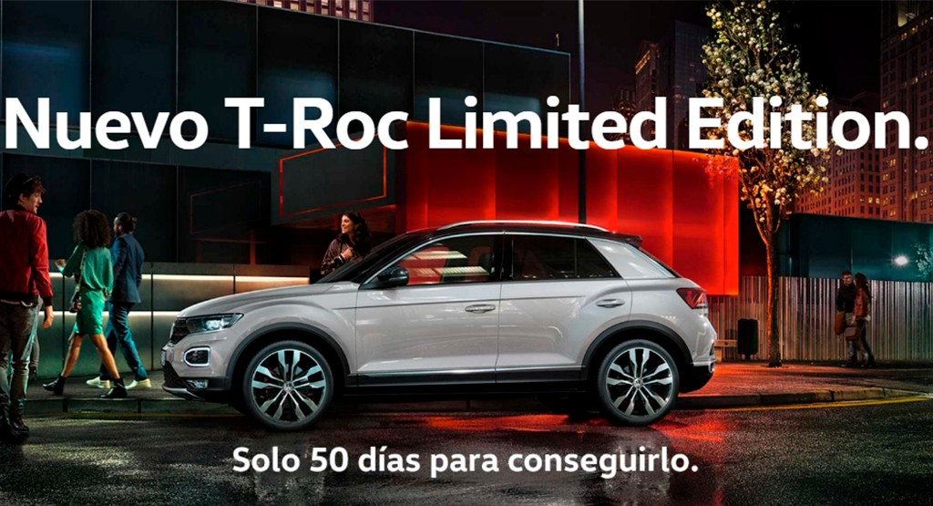 Volkswagen T-Roc Limited Edition: solo disponible para su compra online