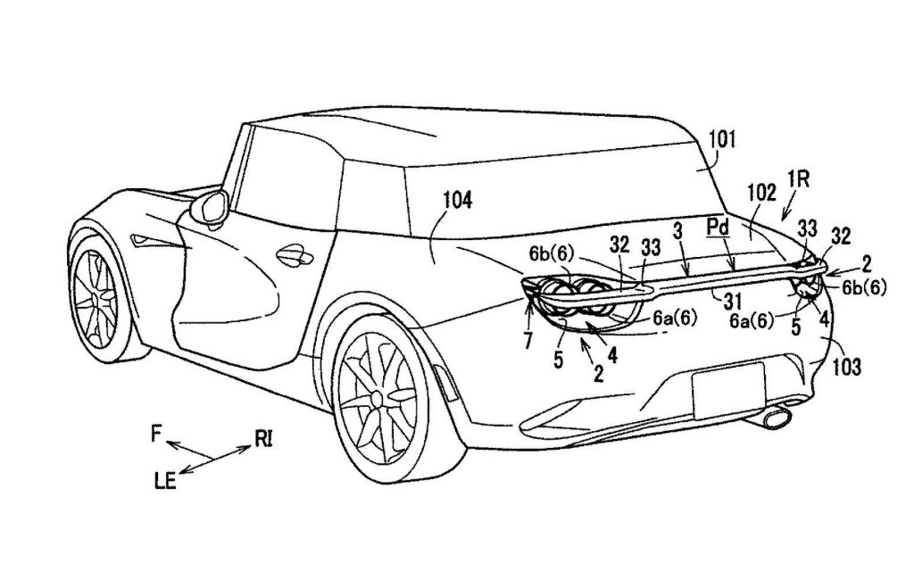 Mazda patenta un agresivo alerón trasero escamoteable
