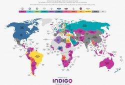 Todos los coches más vendidos del mundo por paises en un solo mapa