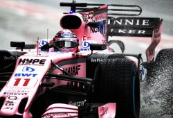La lluvia no enturbia el buen hacer de Force India