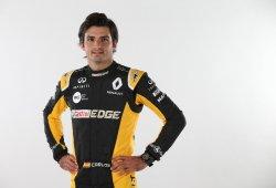 Sainz ya luce los colores de Renault que llevará a partir de Austin