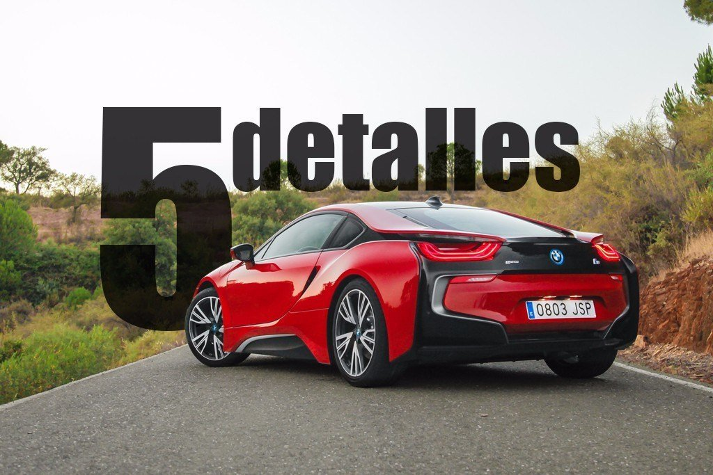 5 detalles del BMW i8 Protonic RED Edition