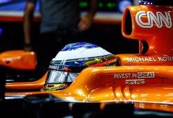 """Alonso, a las puertas de la Q3: """"Preferimos salir el once por los neumáticos"""""""