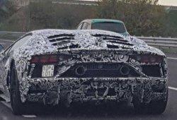 El sucesor del Lamborghini Aventador SV cazado en su formato definitivo