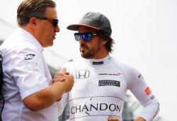 """Zak Brown asegura """"al 100%"""" que McLaren plantará cara a los tres grandes en 2018"""