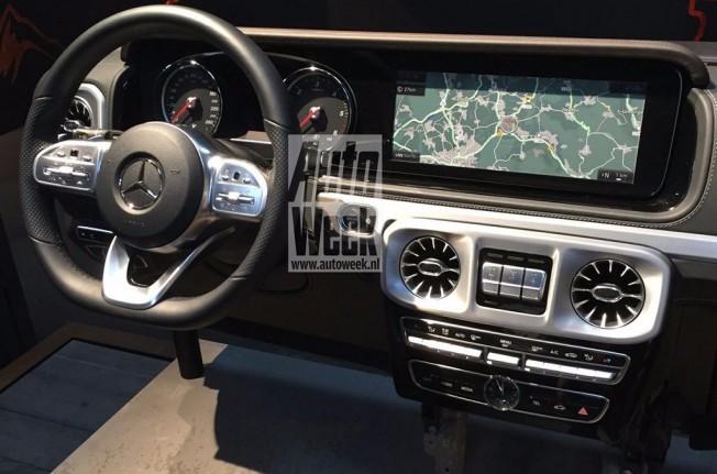 Mercedes Clase G 2018 - foto espía interior
