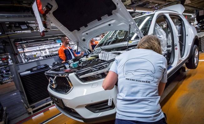Producción del Volvo XC40