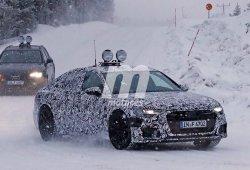 Las luces traseras del Audi A6 2018 se insinúan en estas nuevas fotos espía