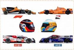 Así son los coches que Fernando Alonso ha pilotado en 2017