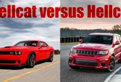 Duelo Hellcat: Dodge Challenger Hellcat contra Jeep Grand Cherokee Trackhawk