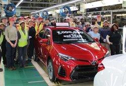 Toyota fabrica la unidad un millón del Corolla en Estados Unidos