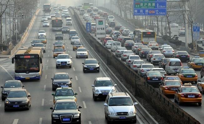 Tráfico en la ciudad de Pekín