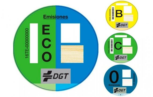 Etiquetas Medioambientales de la DGT
