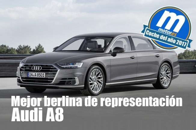 Audi A8 2018 mejor berlina de representación para Motor.es