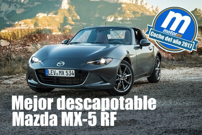 Mazda MX-5 RF Mejor descapotable 2017 para Motor.es
