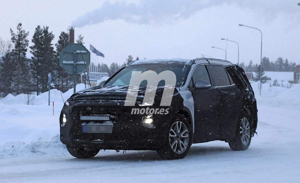 El Hyundai Santa Fe 2019 también se enfrenta a sus test de invierno
