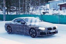 El BMW Serie 8 Cabrio pierde camuflaje en sus test de invierno