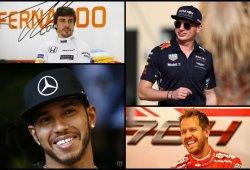 Hamilton analiza a sus tres máximos rivales: Vettel, Alonso y Verstappen