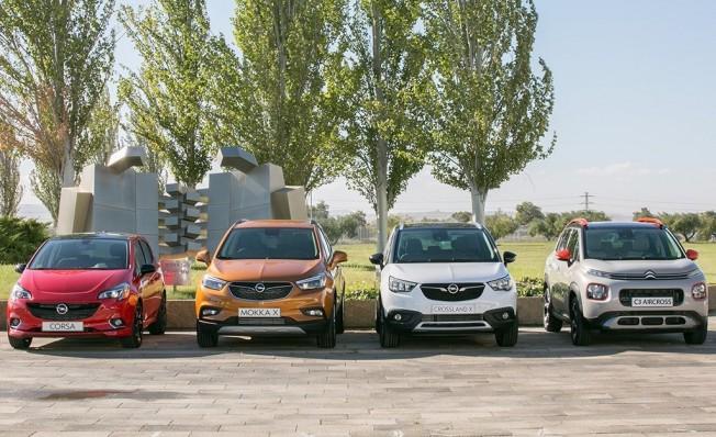 Los cuatro modelos fabricados por Opel en Zaragoza