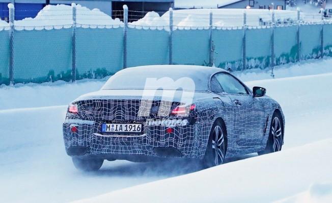 BMW Serie 8 Cabrio 2018 - foto espía posterior