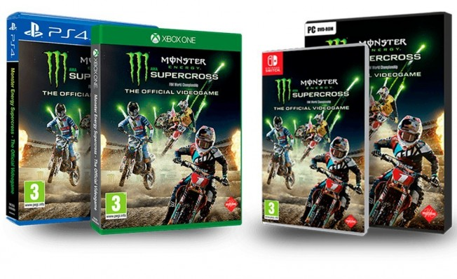 Monster Energy Supercross - carátulas