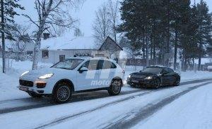 Porsche prueba la capacidad de carga del Mission E en la fría Suecia