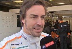 """Alonso, tras bajarse del nuevo McLaren: """"Vienen buenos tiempos"""""""
