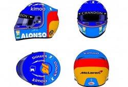 El casco de Alonso para 2018: cambio en las líneas de diseño