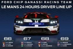 Ford cierra su alineación para las 24 Horas de Le Mans 2018