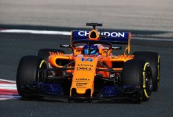 El McLaren MCL33 completa sus primeros kilómetros en Navarra