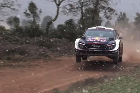 Sébastien Ogier prepara el Rally de México bajo la nieve