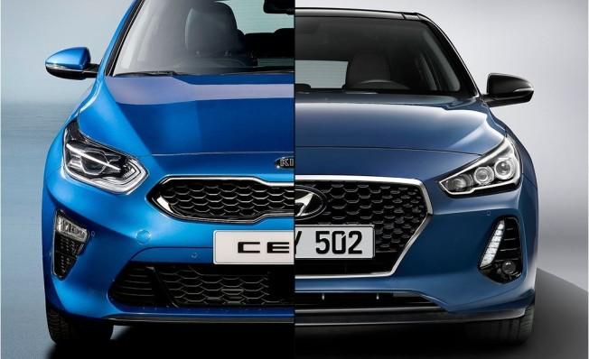 Kia Ceed vs Hyundai i30 - frontal