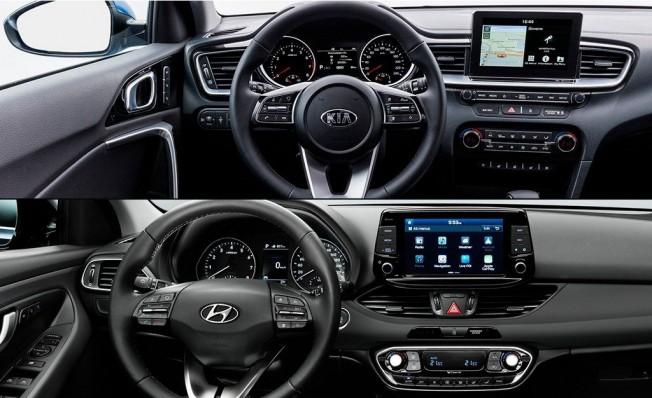 Kia Ceed vs Hyundai i30 - interior