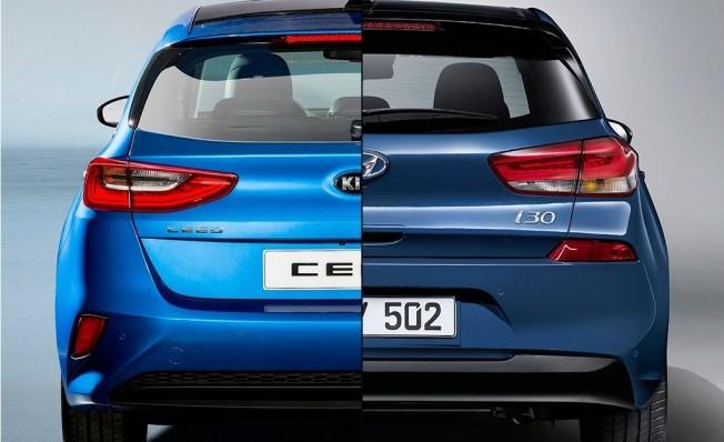 Kia Ceed vs Hyundai i30 - posterior