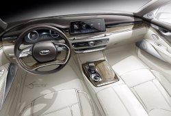 Nuevo adelanto del KIA K900, esta vez con un boceto de su lujoso interior