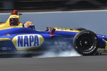 Alexander Rossi comanda los test en la versión de circuito de Indianápolis