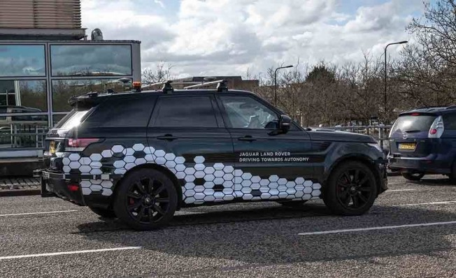 Jaguar Land Rover prototipo de coche autónomo