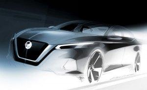 Nissan adelanta un boceto de la nueva generación del Altima 2019 para el Salón de Nueva York