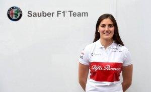 Tatiana Calderón es la nueva piloto de pruebas del equipo Alfa Romeo Sauber
