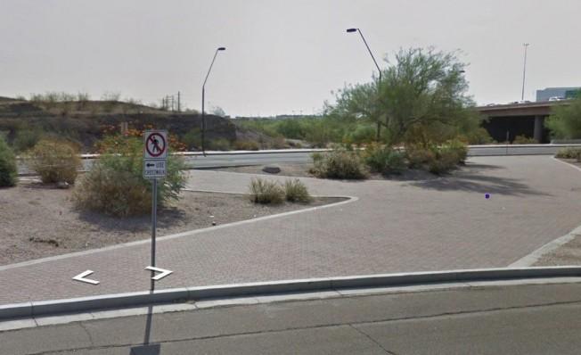Intersección cercana al punto exacto del accidente