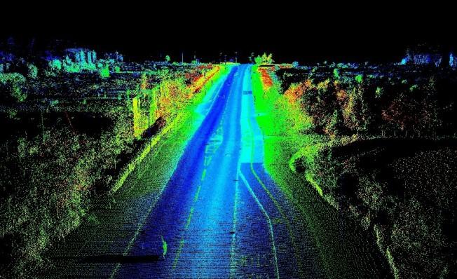 Imagen generada por un escáner LIDAR