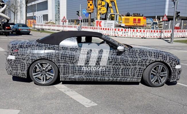 BMW M850i Cabrio - foto espía lateral