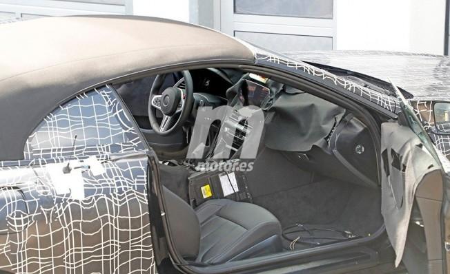 BMW Serie 8 Cabrio 2018 - foto espía interior