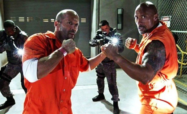Jason Statham y Dwayne Johnson