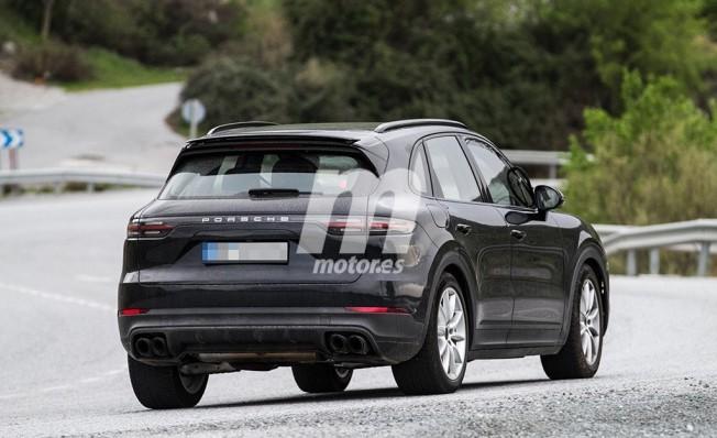 Porsche Cayenne E-Hybrid 2018 - foto espía posterior