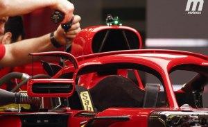 La FIA obliga a Ferrari a eliminar los aletines de los retrovisores anclados al Halo